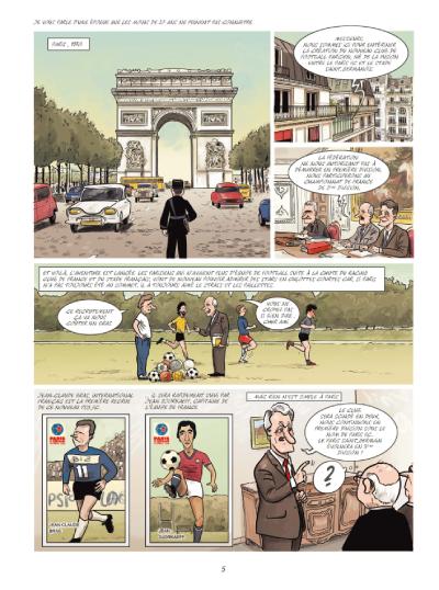 Allez Paris, la folle histoire des Princes du Parc, planche de l'album © Jungle / Faro