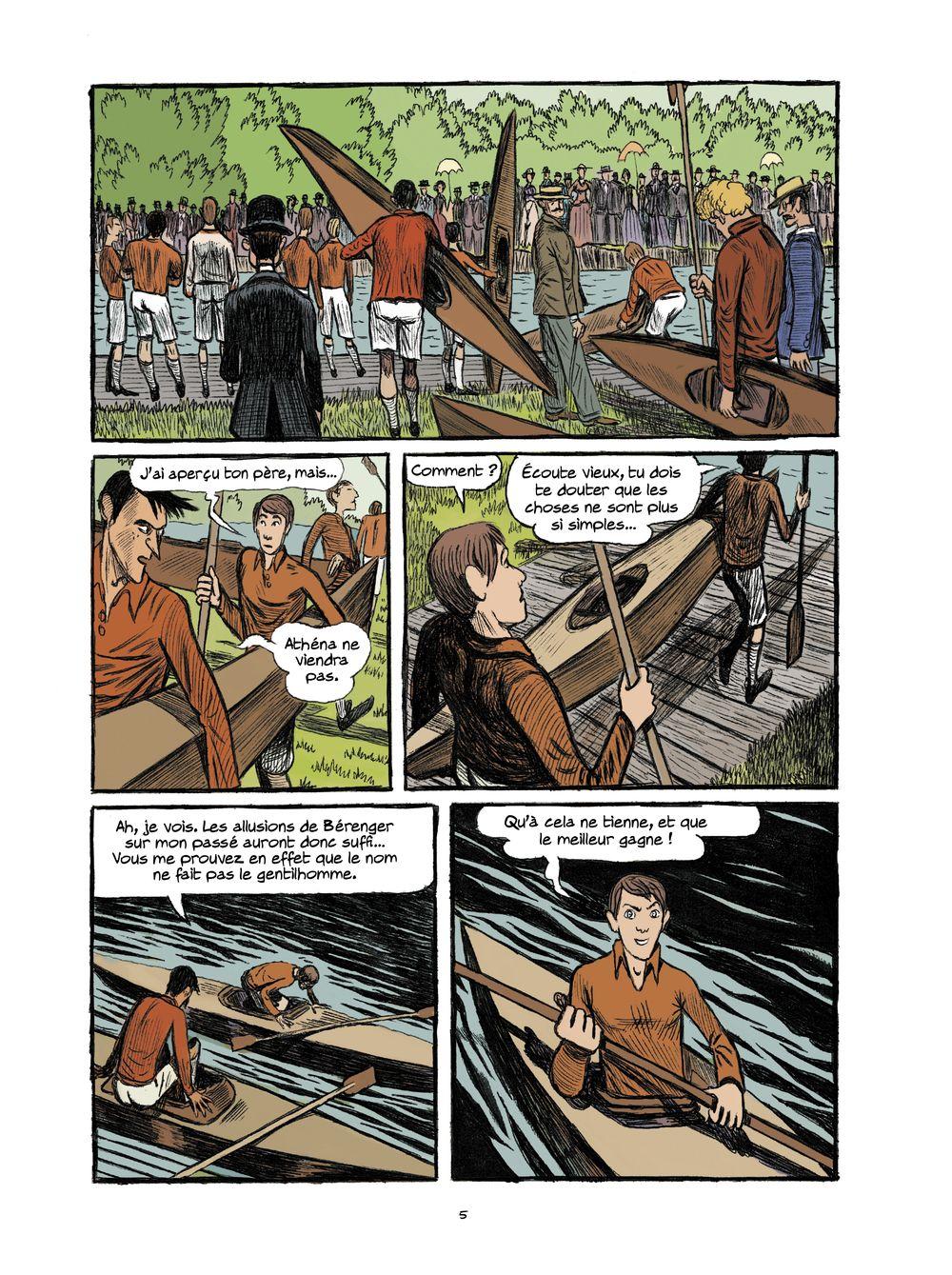 Arsène Lupin, les Origines, planche du tome 3 © Rue de Sèvres / Gaultier / Abtey / Deschodt / Galopin