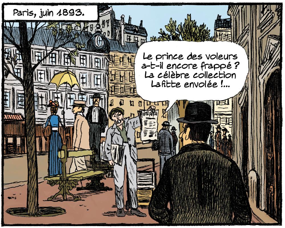 Arsène Lupin, les Origines, case du tome 3 © Rue de Sèvres / Gaultier / Abtey / Deschodt / Galopin