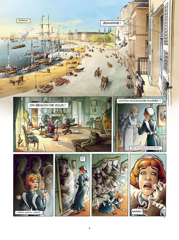 Aspic, détectives de l'étrange, planche du tome 7 © Soleil / Despujol / Gloris / Saint-Blancat