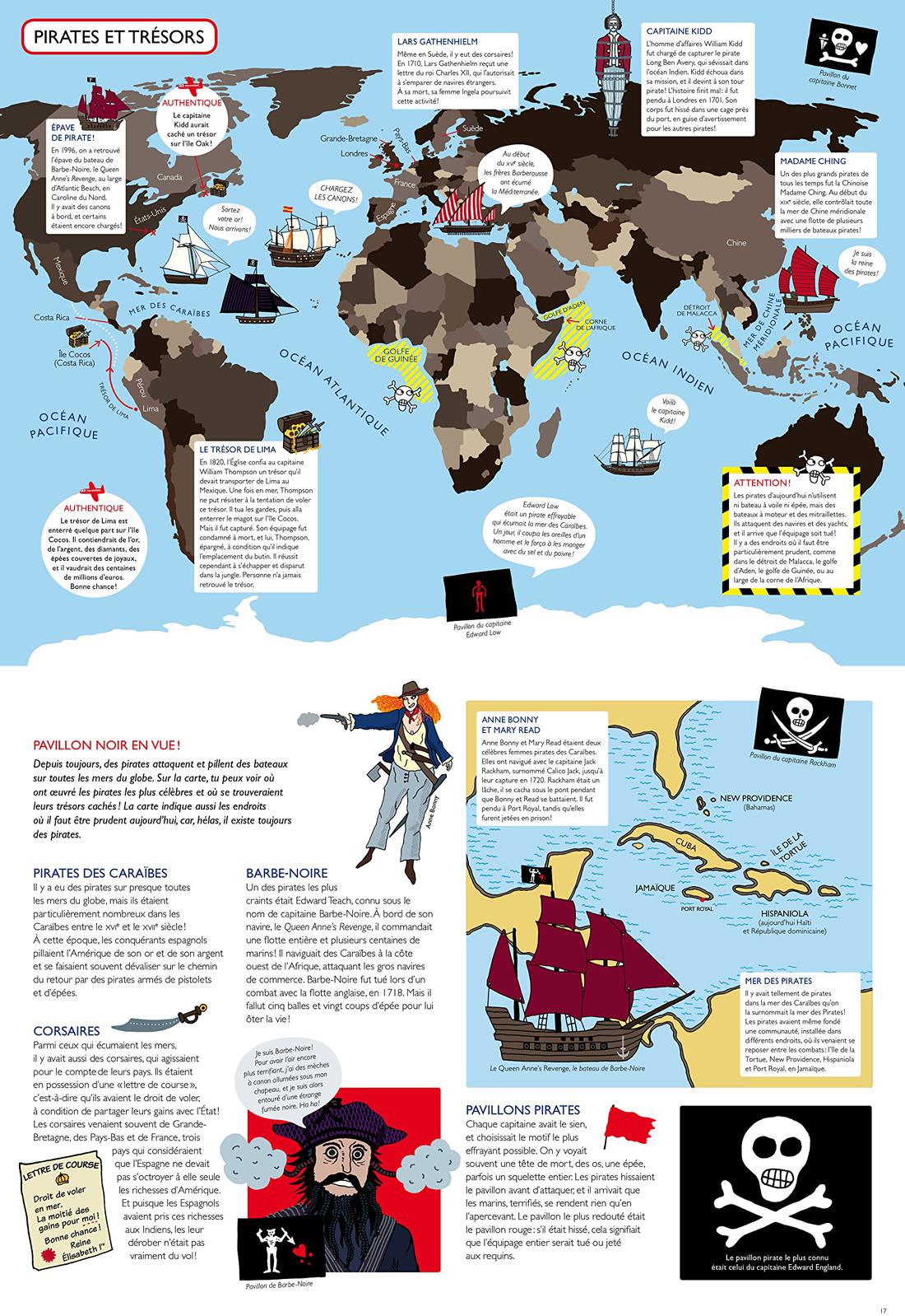 Atlas pour aventuriers, planche de l'album © Écoles des Loisirs / Sheppard