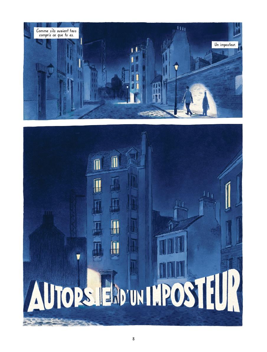 Autopsie d'un imposteur, planche de l'album © Delcourt / Campi / Zabus