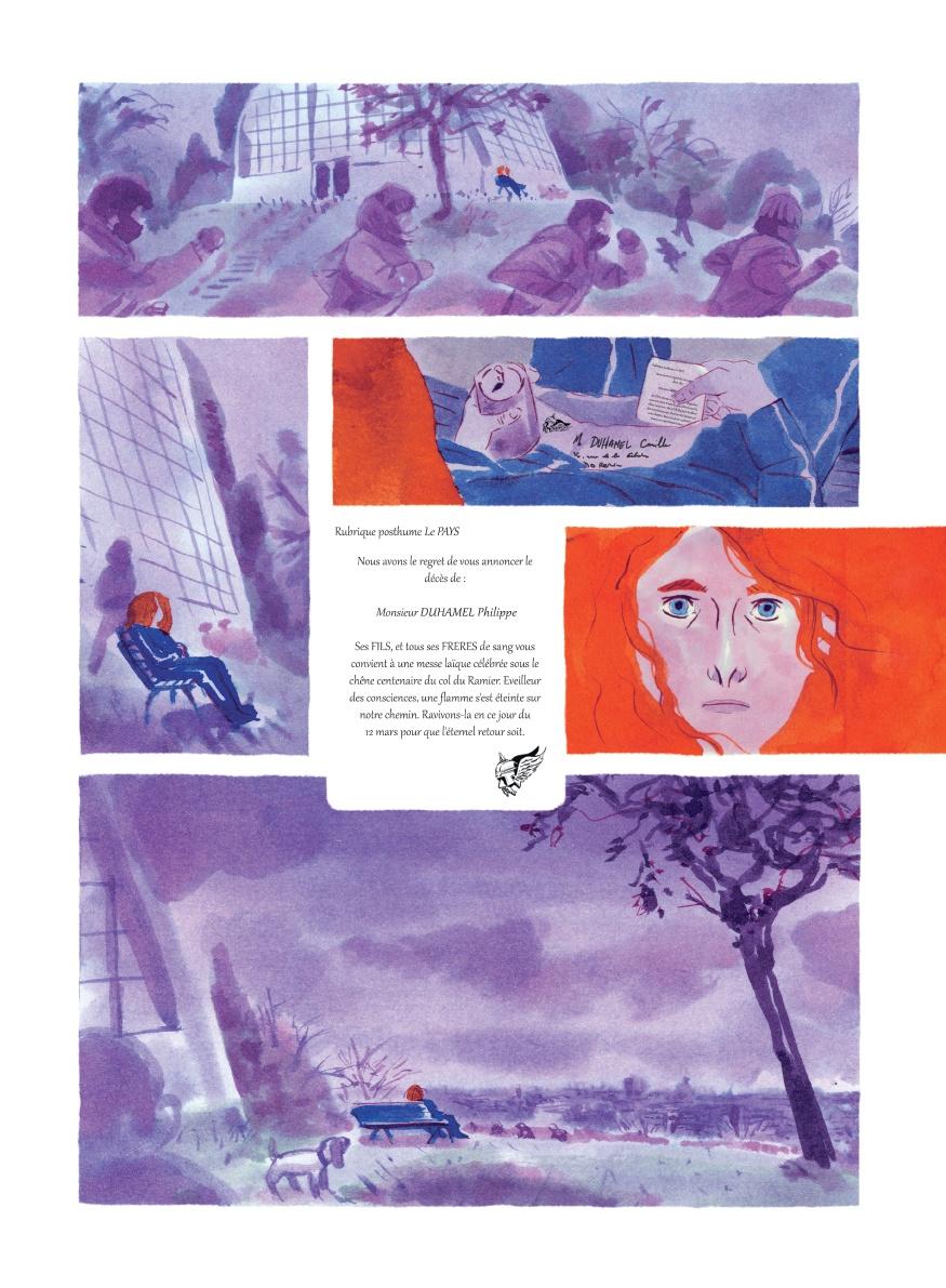 Battue, planche de l'album © Six Pieds Sous Terre / Coquillaud / Levéel