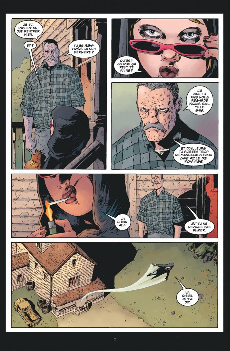 Black Hammer, planche du tome 1 © Urban Comics / Ormston / Lemire / Stewart