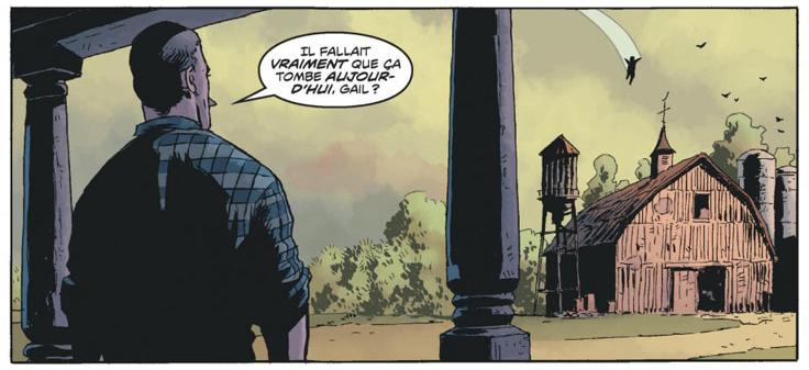 Black Hammer, case du tome 1 © Urban Comics / Ormston / Lemire / Stewart