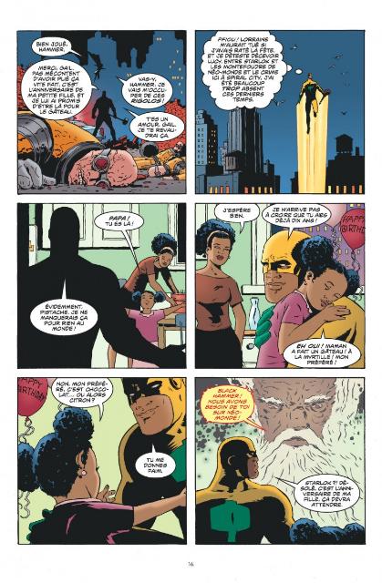 Black Hammer, planche du tome 2 © Urban Comics / Ormston / Lemire / Stewart