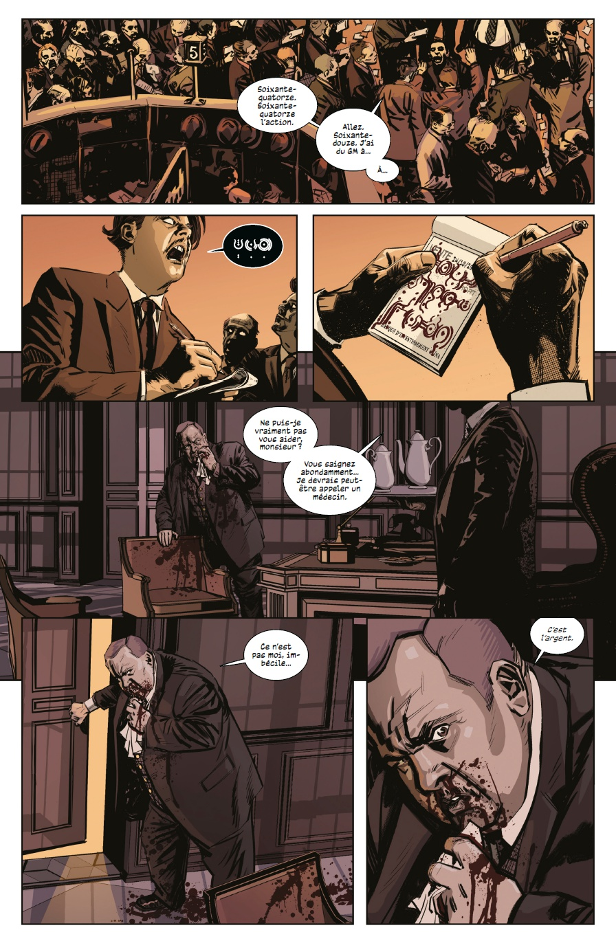 Black Monday Murders, planche du tome 1 © Urban Comics / Coker / Hickman / Garland