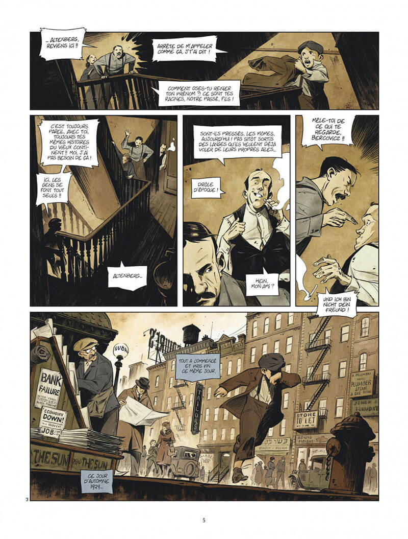 Bootblack, planche du tome 1 © Dargaud / Mikael