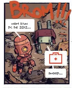 Bots, planche du tome 1 © Alkama / Baker / Ducoudray