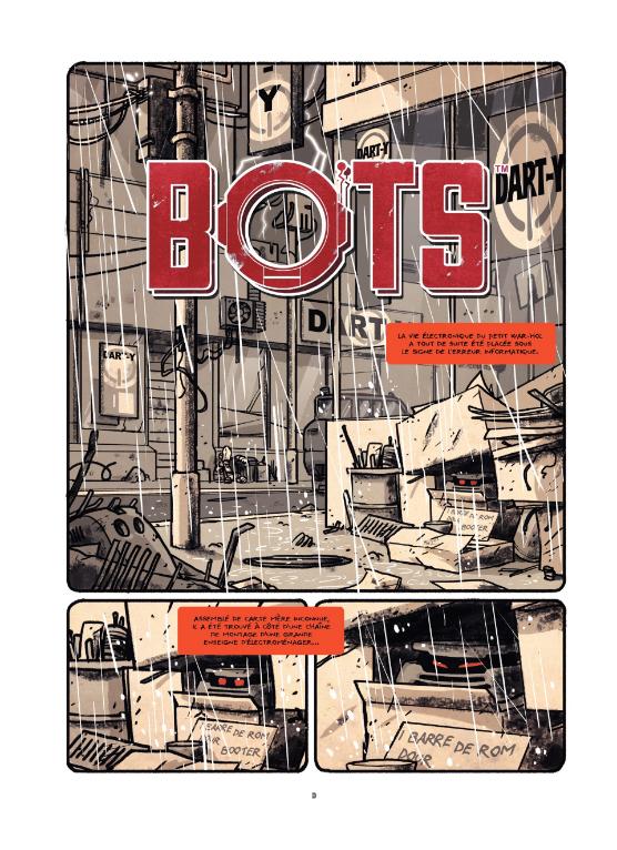 Bots, planche du tome 2 © Alkama / Baker / Ducoudray