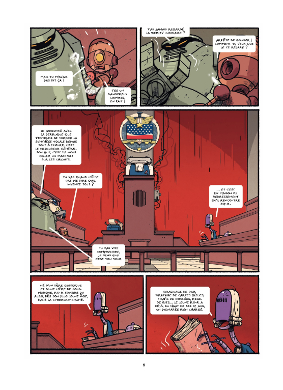 Bots, planche du tome 2 © Alkama / Baker / Ducoudray