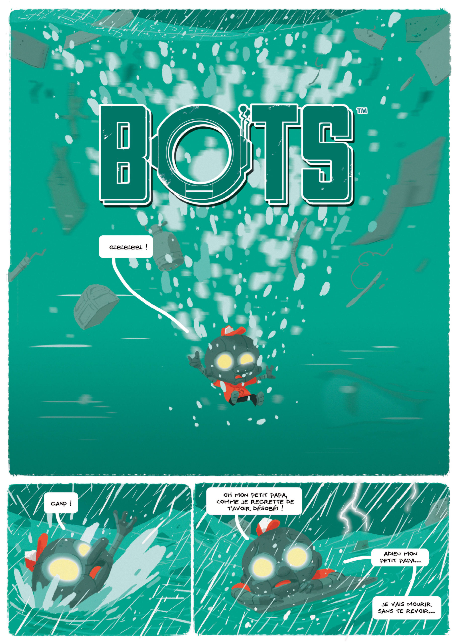 Bots, planche du tome 3 © Ankama / Baker / Ducoudray