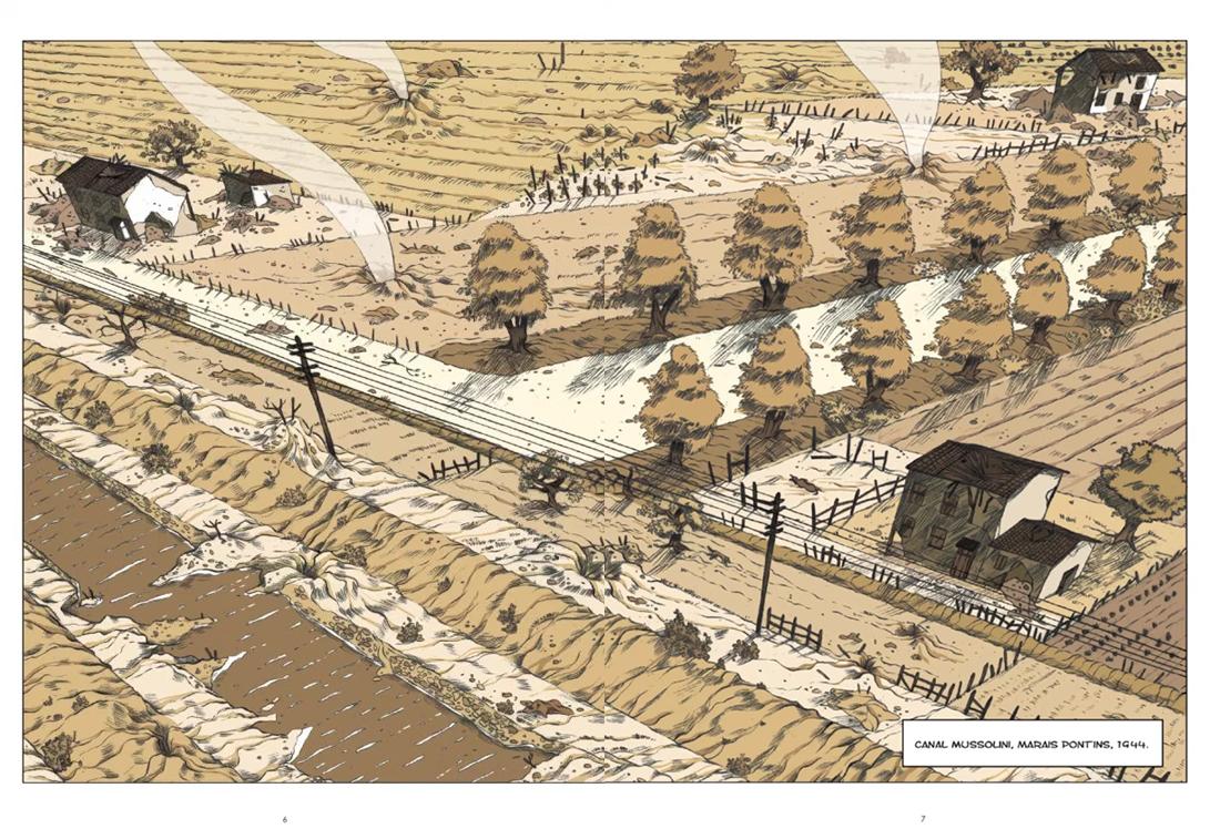 Canal Mussolini, planche de l'album © Steinkiss / Ruggeri / Lanzidei / Pennacchi