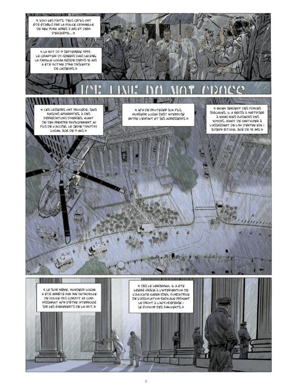 car l'enfer est ici, planche du tome 5 © Futuropolis / Hirn / Brunschwig / Sauvêtre