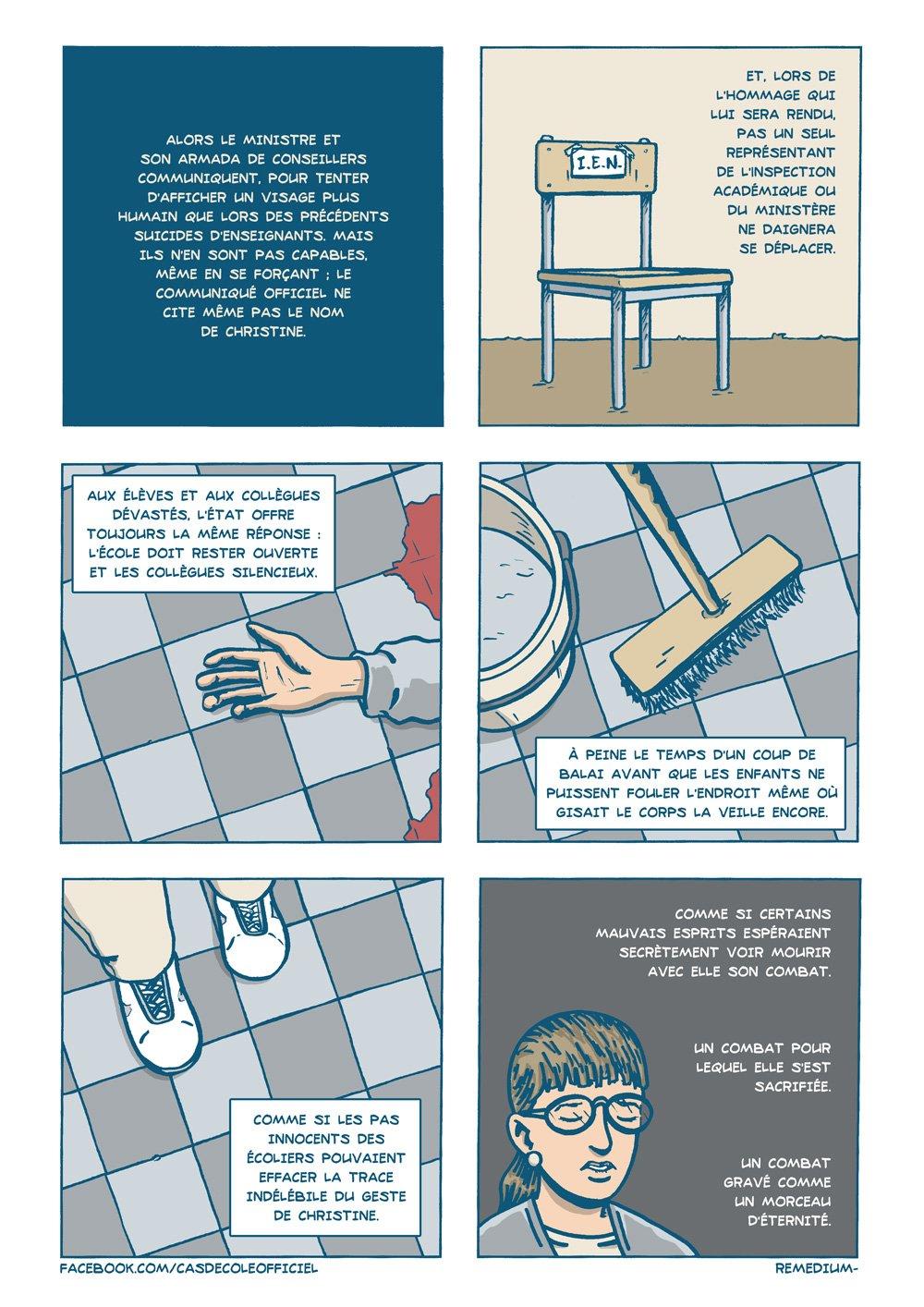 Cas d'école , planche de l'album © Editions des Equateurs / Remedium