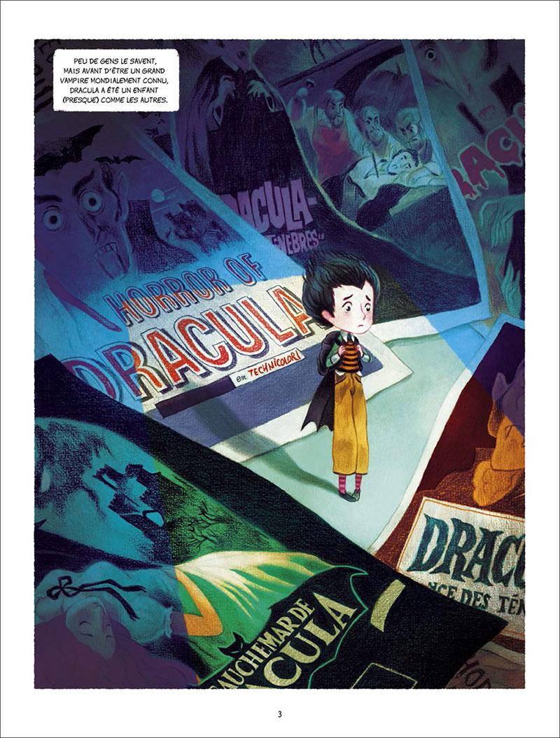 Chaque jour Dracula, planche de l'album © Delcourt / Lefèvre / Clément