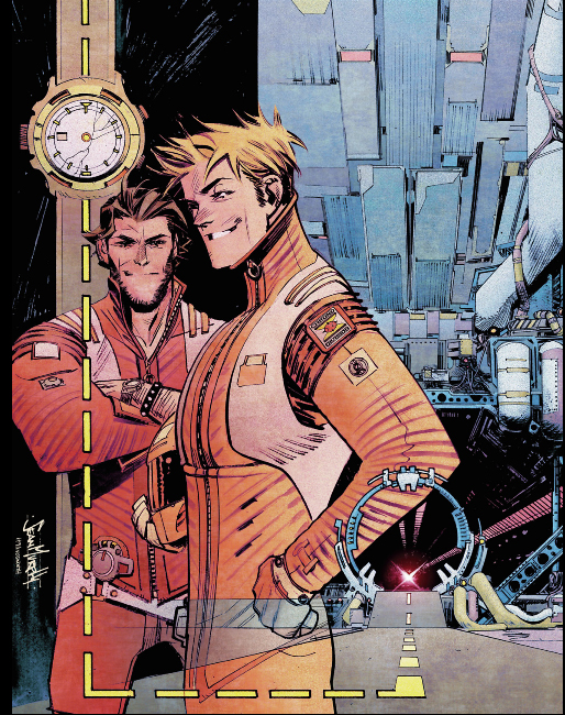 Chrononauts, couverture du volume 1 de l'édition américaine © Panini / Murphy / Millar / Hollingsworth