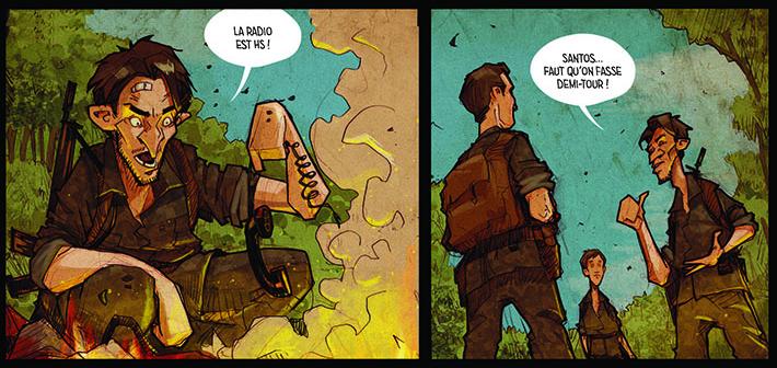 Commando Vampires, planche de l'album © Editions du Long Bec / Cavia / Melo