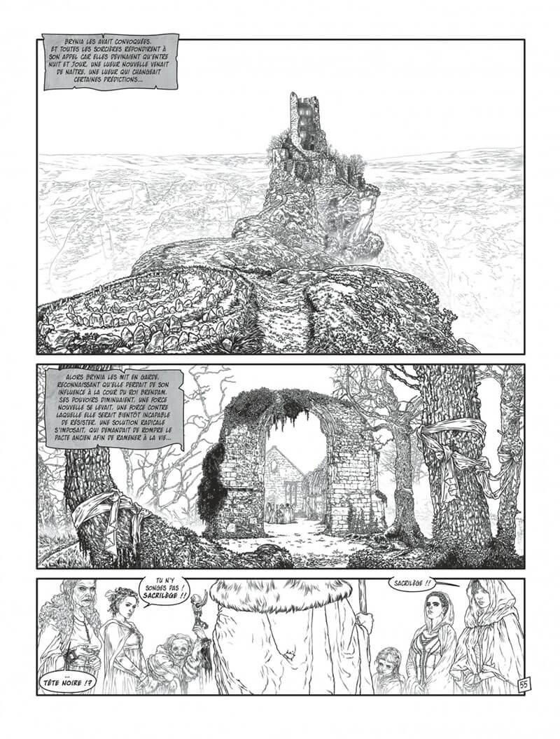 Complainte des landes perdues - Cycle les sorcières, planche du tome 2 © Dargaud / Tillier / Dufaux