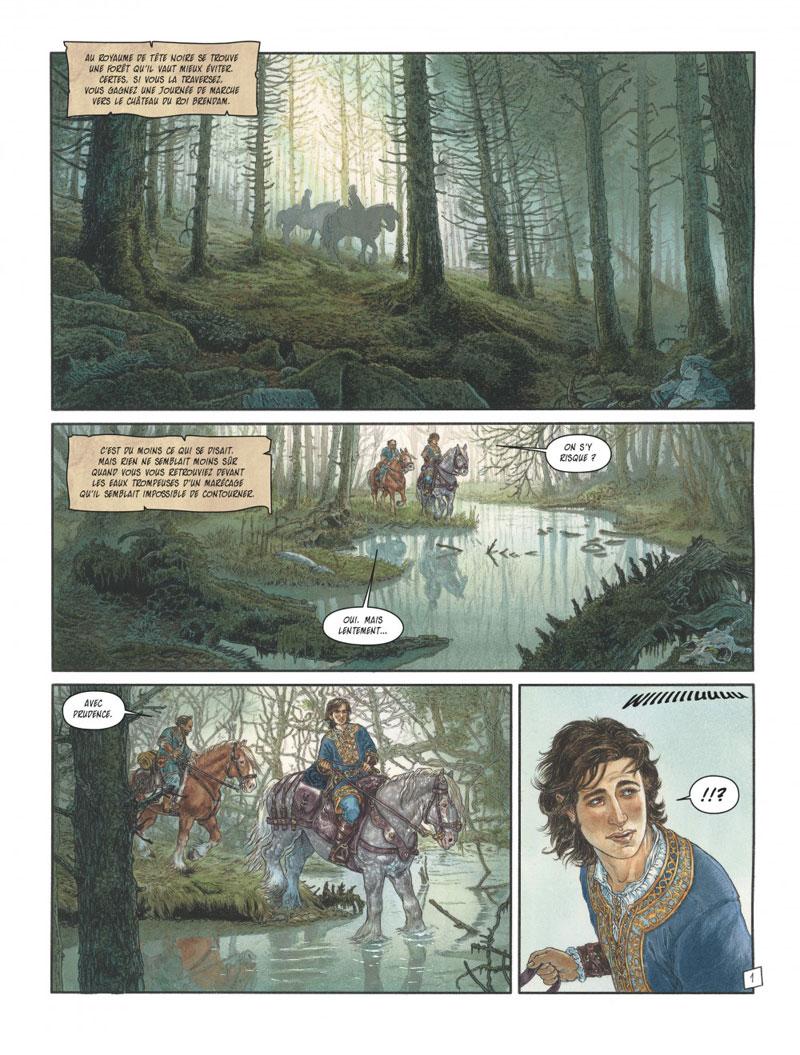Complainte des landes perdues - Cycle les sorcières, planche du tome 1 © Dargaud / Tillier / Dufaux