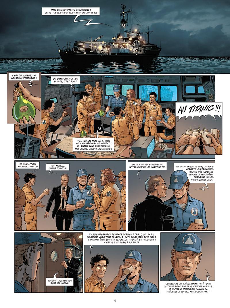 Complot, planche du tome 4 © Delcourt / Köllé / Fiki / Alcante / Sentenac