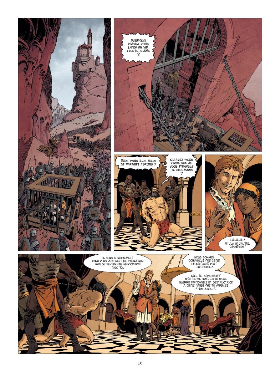 Conan le Cimmérien, planche du tome 5 © Glénat / Le Roux / Brunschwig / Hubert