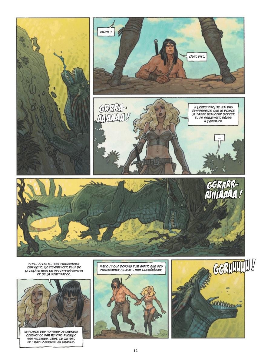 Conan le Cimmérien, planche du tome 7 © Glénat / Cassegrain / Hautière