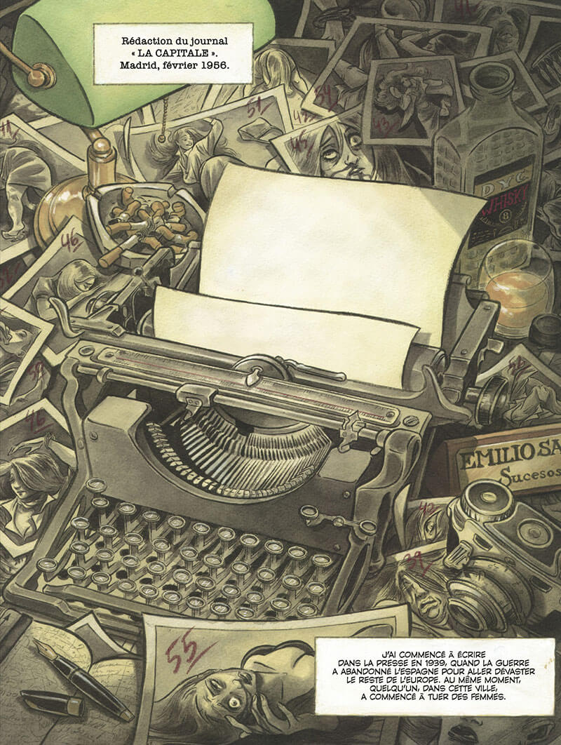 Contrapaso, planche du tome 1 © Dupuis / Valero