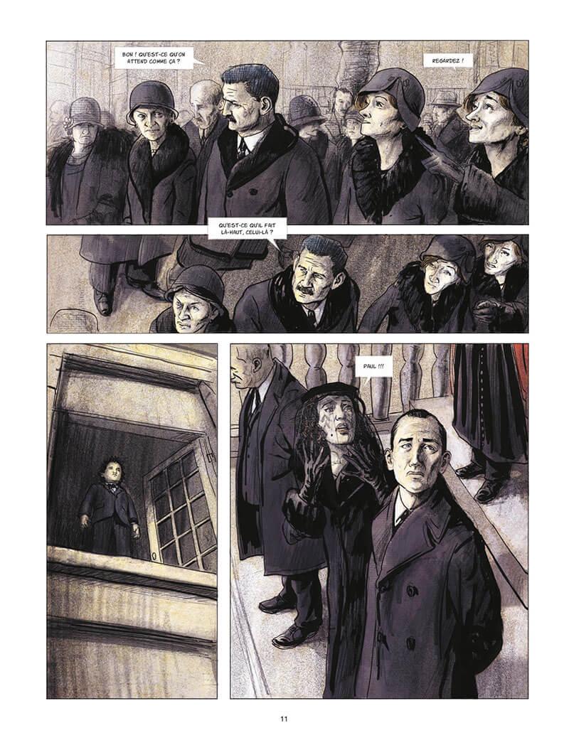 Couleurs de l'incendie, planhce de l'album © Rue de Sèvres / De Metter / Lemaître