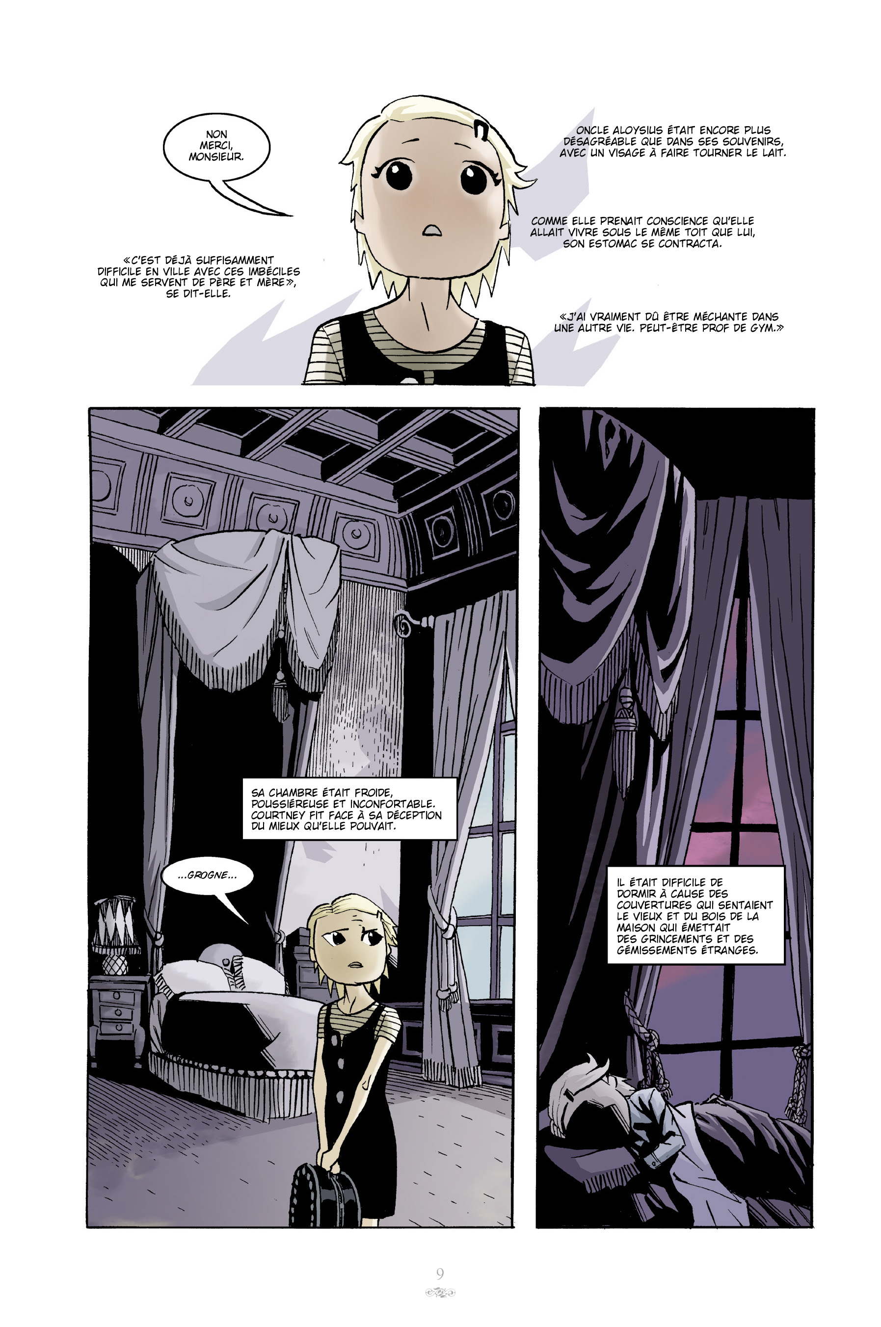 Courtney Crumrin, Intégrale couleur, planche du tome 1 © Akileos / Naifeh