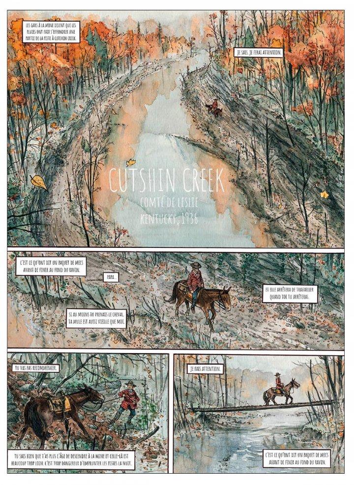 Cutshin Creek, planche de l'album © Passés Composés / Blary / Gauthier
