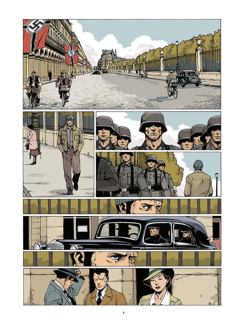 Darnand, le bourreau français, planche du tome 2 © Rue de Sèvres / Bedouel / Perna