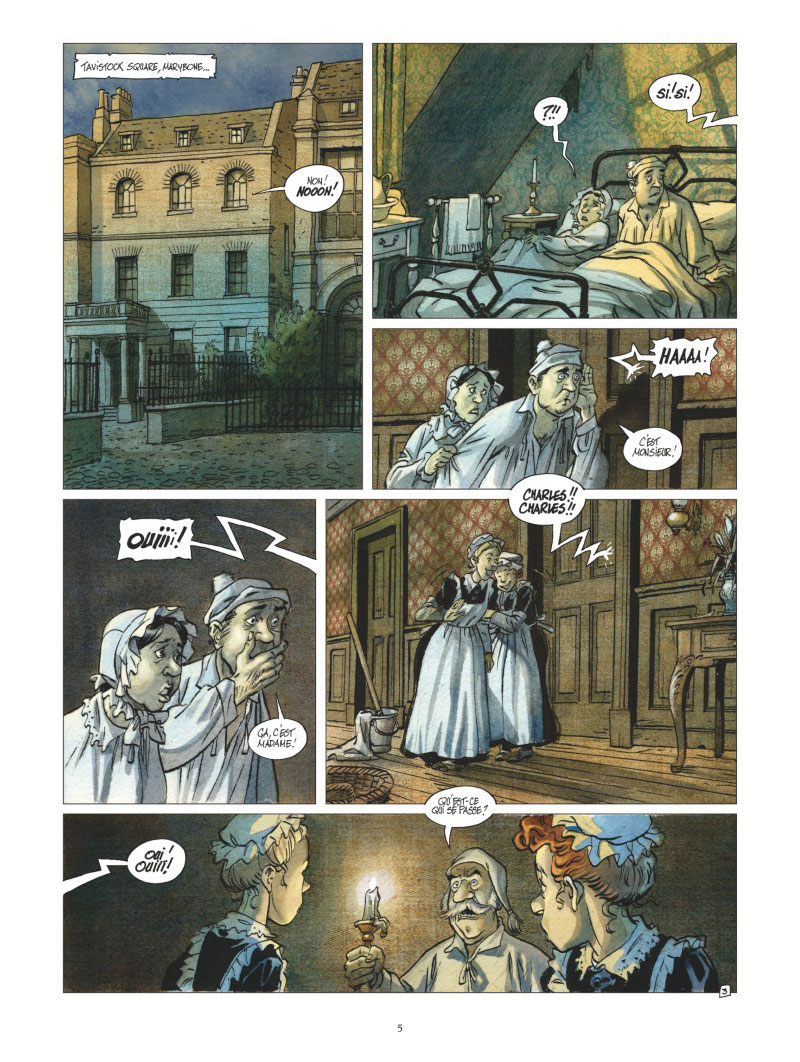 Dickens & Dickens, planche du tome 2 © Vents d'Ouest / Griffo / Rodolphe