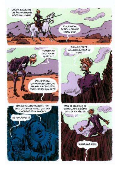Don Quichotte, planche du tome 2 © Warum / Davis