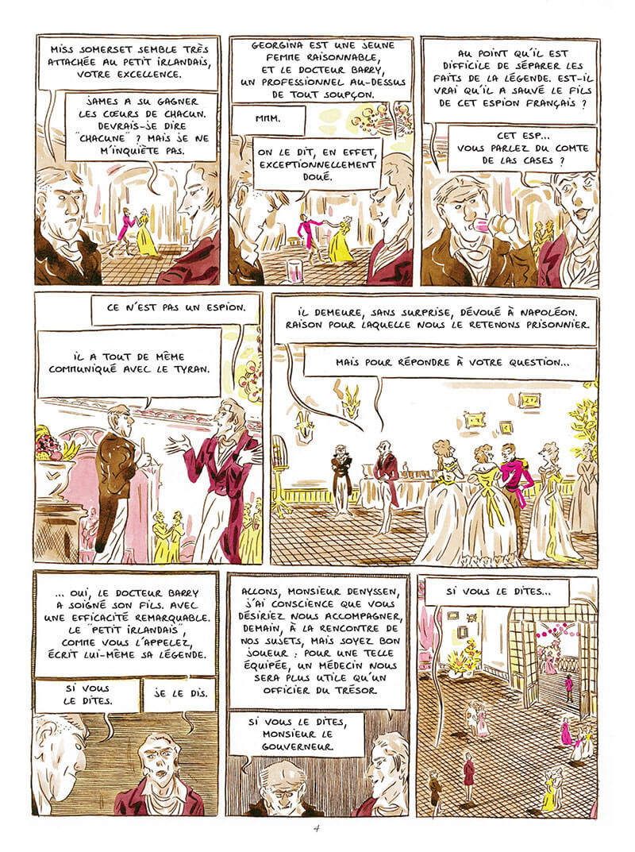 La vie mystérieuse, insolente et héroique du dr James Barry, planche de l'album © Steinkis / Maupré / Bauthian