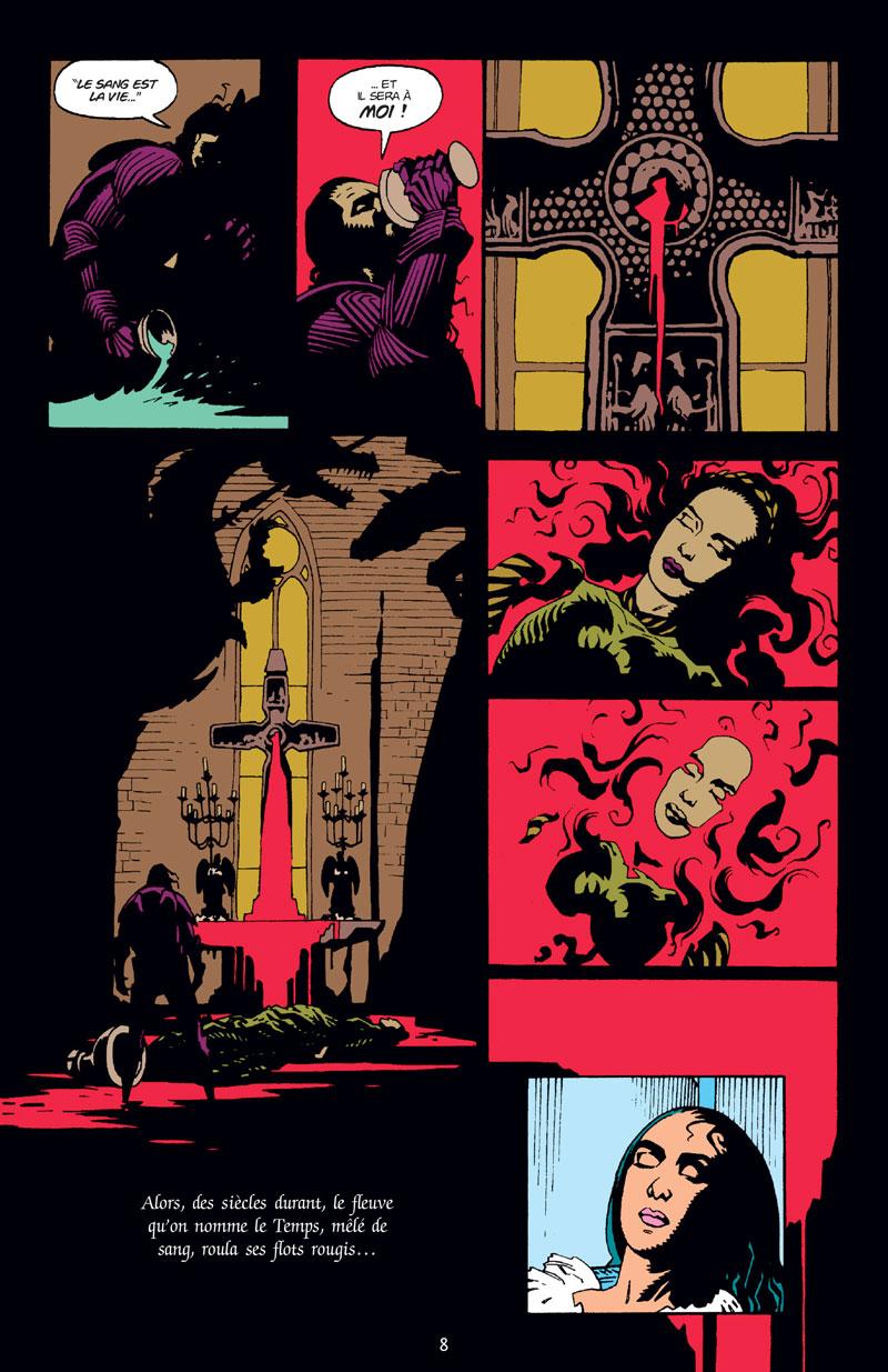 Dracula, planche de l'album © Delcourt / Mignola / Thomas  / Charello