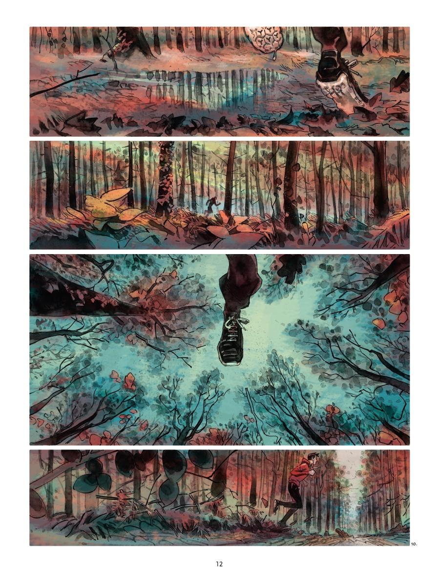 Effet miroir, planche de l'album © Delcourt / Laval NG / Makyo