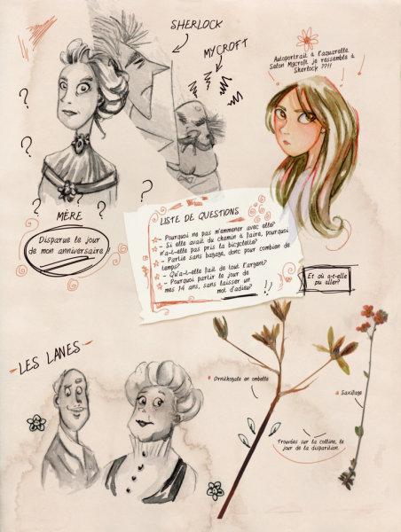 Enola Holmes, planche du tome 1 © Jungle / Blasco