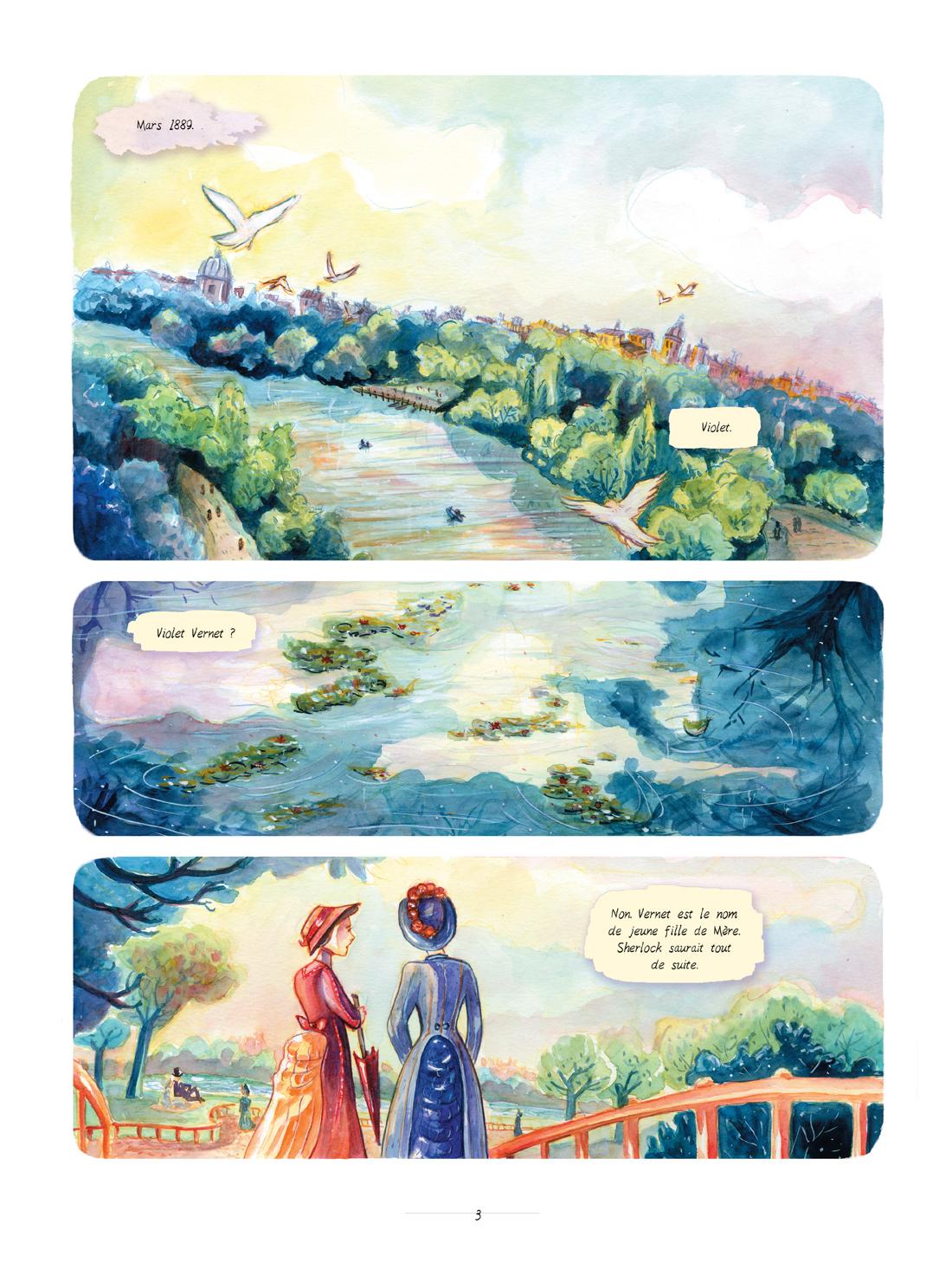 Enola Holmes, planche du tome 3 © Jungle / Blasco