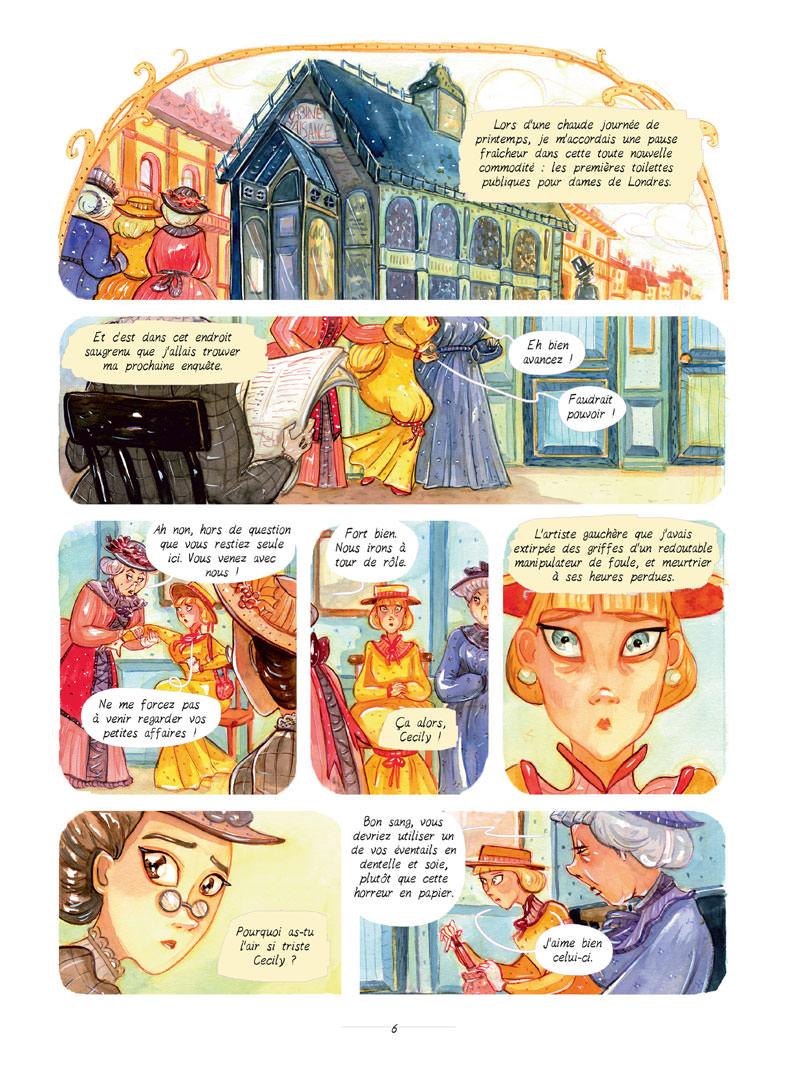 Enola Holmes, planche du tome 4 © Jungle / Blasco