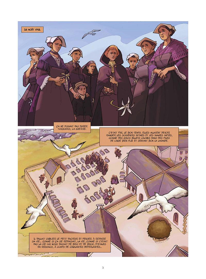 Facteur pour femmes, planche du tome 2 © Bamboo / Cassier / Quella-Guyot