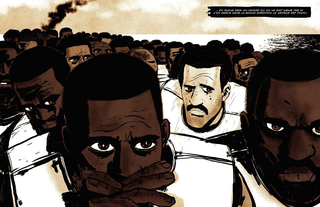 Fissa, papa... de la cité au bled, du bled à la cité, planche de l'album © Marabout / Ameziane