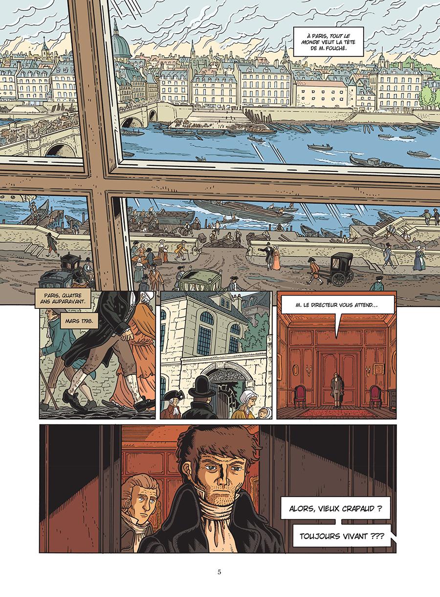 Fouché, planche du tome 2 © les Arènes / Mallet / Juncker / Croix