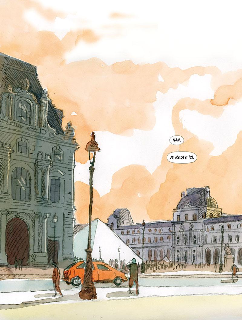 Gaspard et la malédiction du prince-fantôme, planche de l'album © Delcourt / Louvre / Dethan