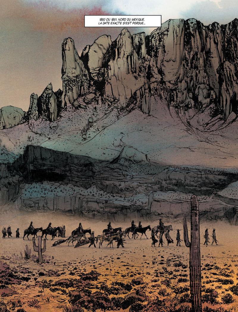Geronimo, planche de l'album © Rue de Sèvres / Jef / Matz