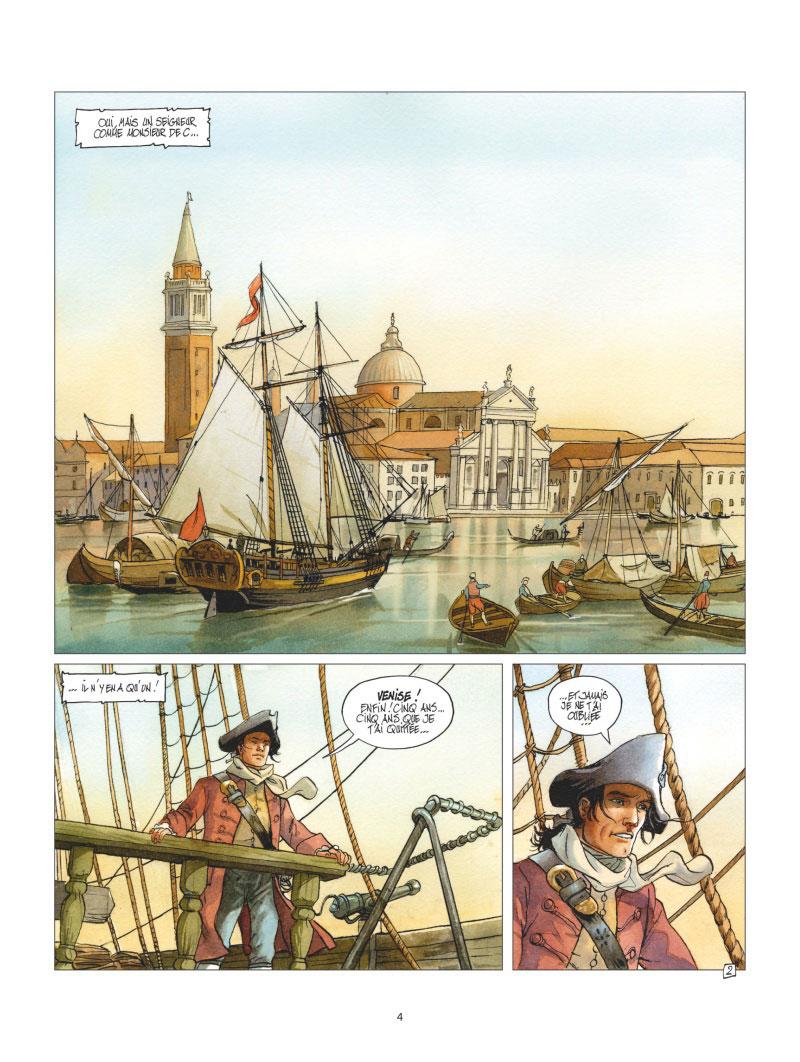 Giacomo C. - retour à Venise, planche du tome 1 © Glénat / Griffo / Dufaux