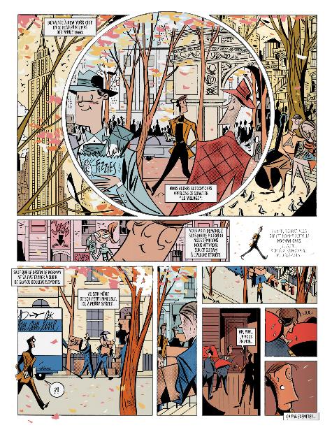 Greenwich village, planche du tome 1 © Kennes editions / Lapone / Gihef / Thibaut-Jouvray