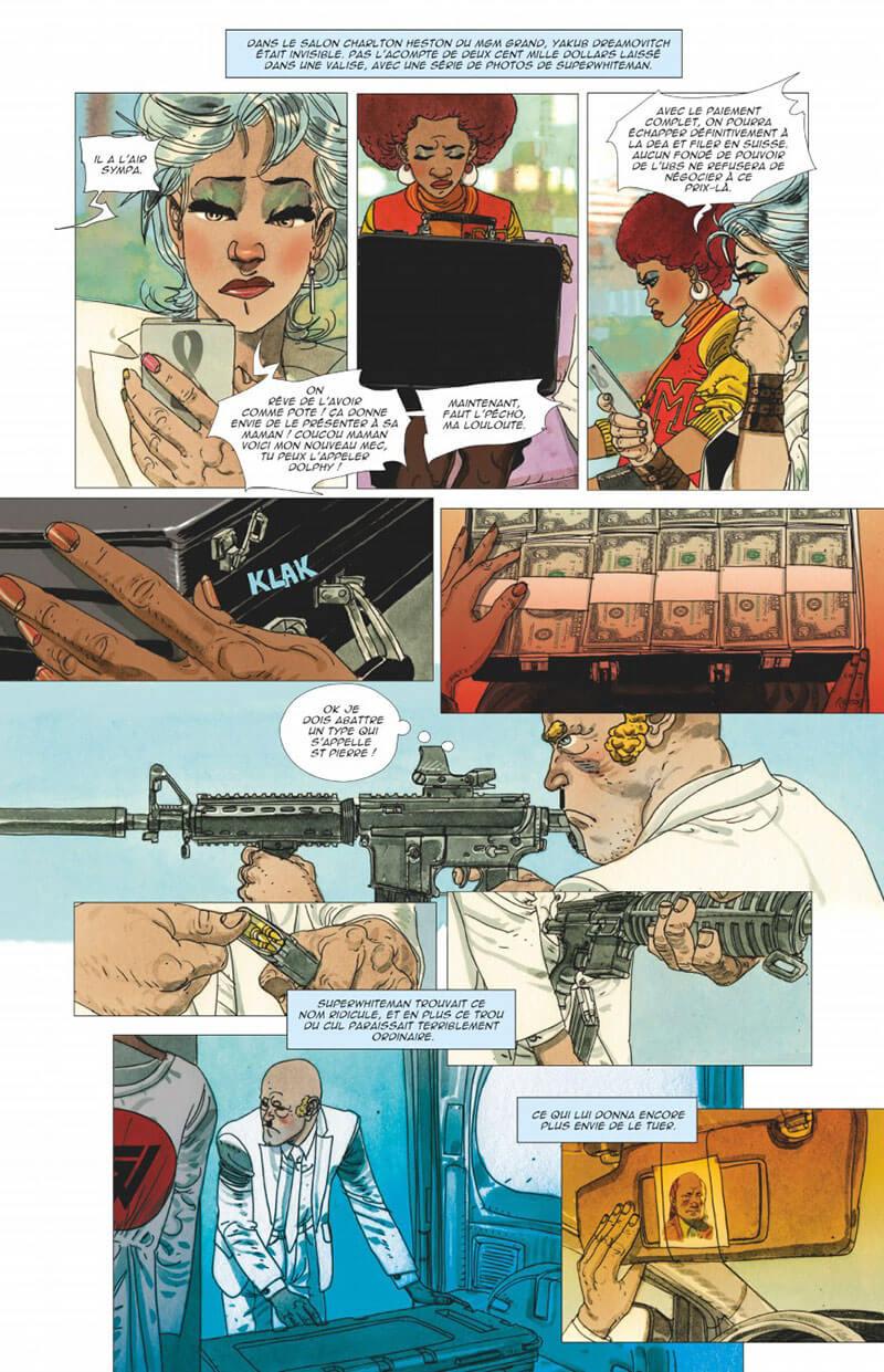 Gun Crazy, planche du tome 2 © Glénat / Jef / Steve D