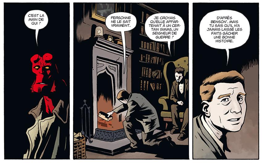 Hellboy & BPRD, planche du tome 2 © Delcourt / Walsh / Mignola