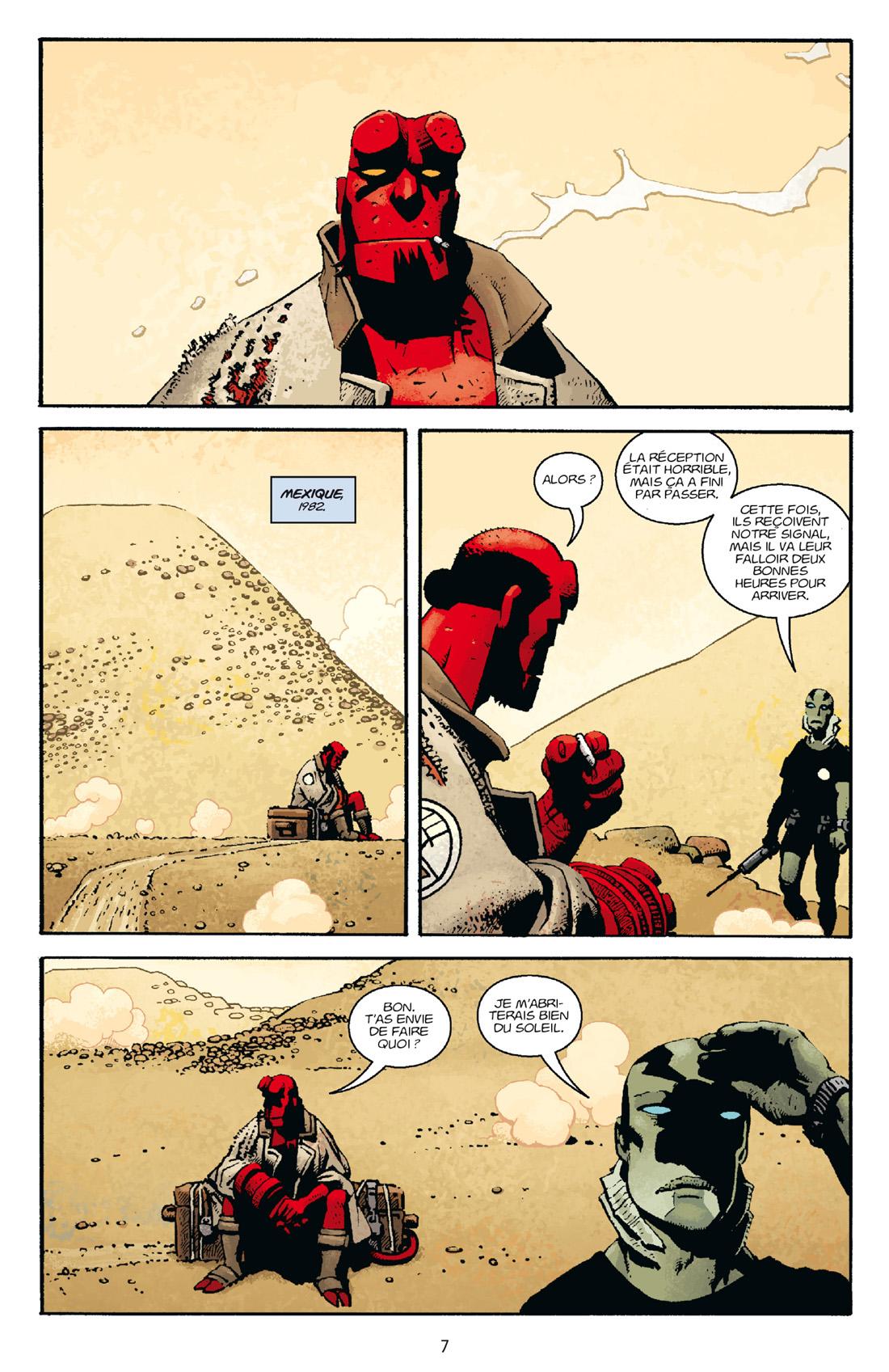 Hellboy, planche du tome 15 © Delcourt / Corben / Mignola / Stewart